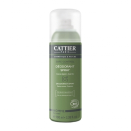 CATTIER HOMME DEODORANT SPRAY SAFE-CONTROL BIO 100ML