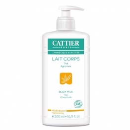CATTIER LAIT CORPS REGENERANT THE ET AGRUMES BIO 500ML