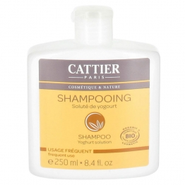 CATTIER SHAMPOOING USAGE FREQUENT SOLUTE DE YOGOURT BIO 250ML