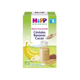 CEREALES BANANES CACAO DES 8 MOIS 250G MATINS GOURMANDS HIPP