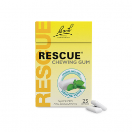 CHEWING GUM MENTHE VERTE 25 DRAGEES RESCUE BACH
