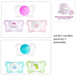 CHICCO PHYSIO MICRO SUCETTE PHYSIOLOGIQUE EN SILICONE 0-2 MOIS X2