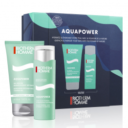 Coffret Duo Gel Hydratant 75ml + Gel Douche 150ml Aquapower Biotherm