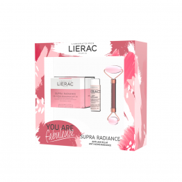 COFFRET PRINTEMPS SUPRA RADIANCE GEL CREME 50ML + LAIT MICELLAIRE 30ML + ROLLER QUARTZ OFFERT