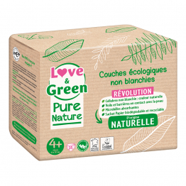 Couches Écologiques x 35 Pure Nature Taille 4+ Love&Green