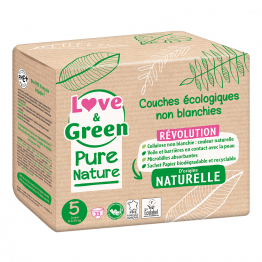 Couches Écologiques x 33 Pure Nature Taille 5 Love&Green