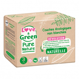 Couches Écologiques Pure Nature x 42 Pure Nature Taille 3 Love&Green
