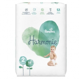 COUCHES TAILLE 2 4 A 8KG X56 HARMONIE PAMPERS