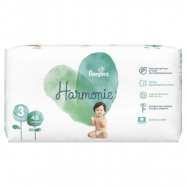 COUCHES TAILLE 3 6 A 10KG X46 HARMONIE PAMPERS