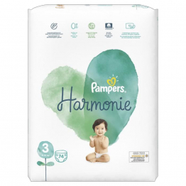 Couches Taille 3 x74 Harmonie 6 à 10kg Pampers