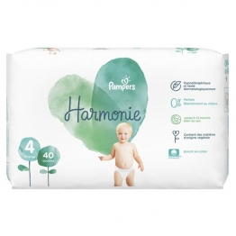 COUCHES TAILLE 4 9 A 14KG X40 HARMONIE PAMPERS