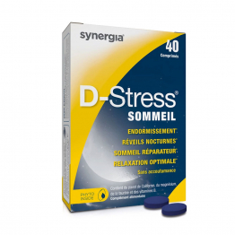 D-STRESS SOMMEIL 40 COMPRIMES SYNERGIA