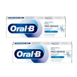 Dentifrice Blancheur 2x75ml Pro-Repair Gencives Et Email Oral-B