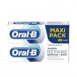Dentifrice Blancheur 2x75ml Repare Gencives Et Email Oral-B