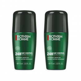 DEODORANT ANTI-TRANSPIRANT ROLL-ON 2X75ML DAY CONTROL BIOTHERM HOMME