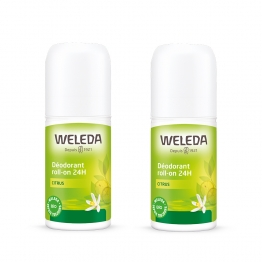DEODORANT CITRUS ROLL ON 24H 2X50ML WELEDA