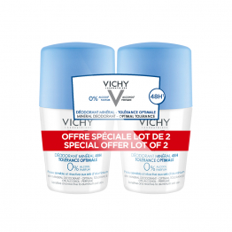 DEODORANT MINERAL TOLERANCE OPTIMALE 48H 2X50ML PEAU SENSIBLE VICHY
