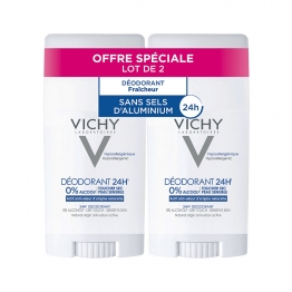 DEODORANT STICK 24H 2X40ML PEAUX REACTIVES VICHY
