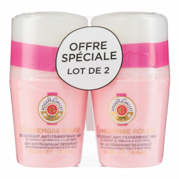 DEODORANT ANTI TRANSPIRANT EFFICACE 48H 2X50ML GINGEMBRE ROUGE ROGER & GALLET