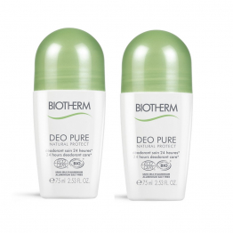 DEODORANT PURE NATURAL PROTECT 24H 2X75ML BIOTHERM