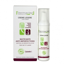 DERMACLAY CREME LEGERE MATIFIANTE ANTI-IMPERFECTIONS BIO 50ML