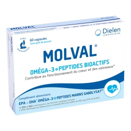 DIELEN MOLVAL OMEGA 3 + ACIDES AMINES 60 CAPSULES