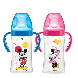 DODIE BIBERON INITIATION+ DEBIT 2 MICKEY & MINNIE 0-6 MOIS AVEC ANSES 270ML