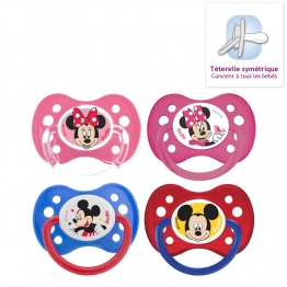 DODIE SUCETTES ANATOMIQUES EN SILICONE COLLECTION MICKEY & MINNIE 6 MOIS ET PLUS X2
