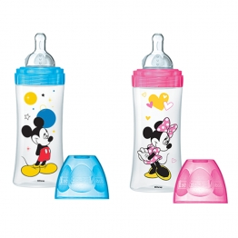 DODIE BIBERON INITIATION+ DEBIT 3 MICKEY & MINNIE 6 MOIS ET PLUS 330ML