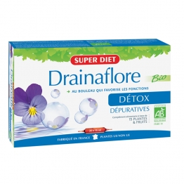 SUPERDIET DRAINAFLORE SOLUTION BUVABLE BIO 20 AMPOULES DE 15 ML