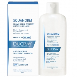 DUCRAY SQUANORM SHAMPOOING TRAITANT ANTIPELLICULAIRE PELLICULES SECHES 200ML