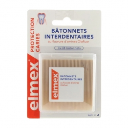 BATONNETS INTERDENTAIRES 3X38 PROTECTION CARIES ELMEX 3X38