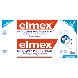 ELMEX DENTIFRICE ANTI-CARIES PROFESSIONNEL 2X75ML
