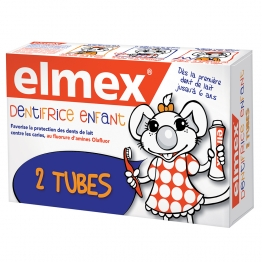ELMEX DENTIFRICE ENFANT PACK DOUBLE 2X50ML