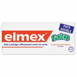 ELMEX DENTIFRICE JUNIOR 6/12 ANS 2x75 ML