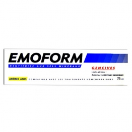 EMOFORM GENCIVES DENTIFRICE AUX SELS MINERAUX AROME ANIS 75ML