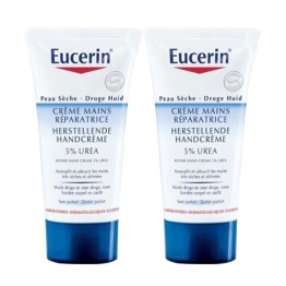 EUCERIN CREME MAINS REPARATRICE PEAUX SECHES ET ABIMEES 2X75ML