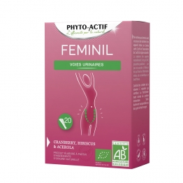 FEMINIL 20 STICKS VOIES URINAIRES PHYTO-ACTIF