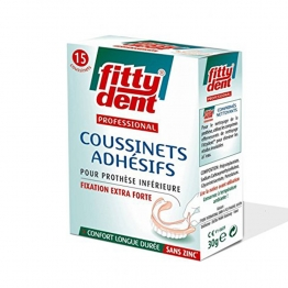 FITTY DENT PROFESSIONNAL COUSSINETS ADHESIFS FIXATION EXTRA FORTE X15