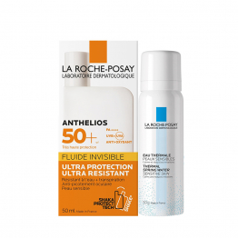 FLUIDE SOLAIRE INVISIBLE SPF50+ 50ML ANTHELIOS +  EAU THERMALE 50G LA ROCHE POSAY