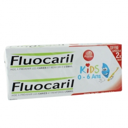 FLUOCARIL KIDS DENTIFRICE 0-6 ANS GEL FRAISE 2X50ML