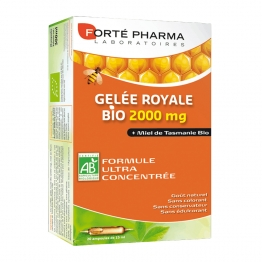 FORTE PHARMA GELEE ROYALE BIO 2000MG 20 AMPOULES DE 15ML