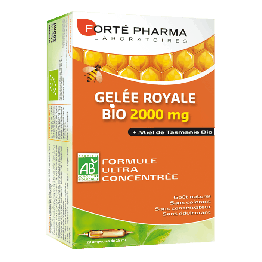 FORTE PHARMA GELEE ROYALE BIO 2000MG BOITE 20 AMPOULES