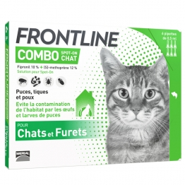 FRONTLINE COMBO SPOT-ON CHAT ET FURET 6 PIPETTES DE 0.5ML