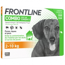 FRONTLINE COMBO SPOT-ON CHIEN S 2-10KG 6 PIPETTES DE 0.67ML