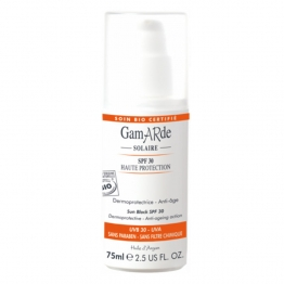 GAMARDE SOLAIRE CREME VISAGE HAUTE PROTECTION SPF30 DERMOPROTECTRICE ANTI-AGE 75ML