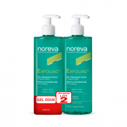 GEL MOUSSANT EXFOLIAC NOREVA 2X400ml