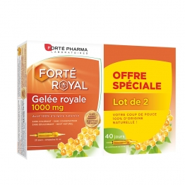 GELEE ROYALE 1000MG 2X20 AMPOULES FORTE ROYAL FORTE PHARMA