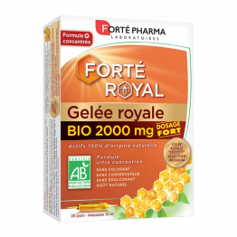 Gelee Royale 2000mg Bio 20 Ampoules Forté Royal Forte Pharma