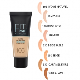 GEMEY MAYBELLINE FOND DE TEINT FIT ME MATTE & PORELESS 30ML